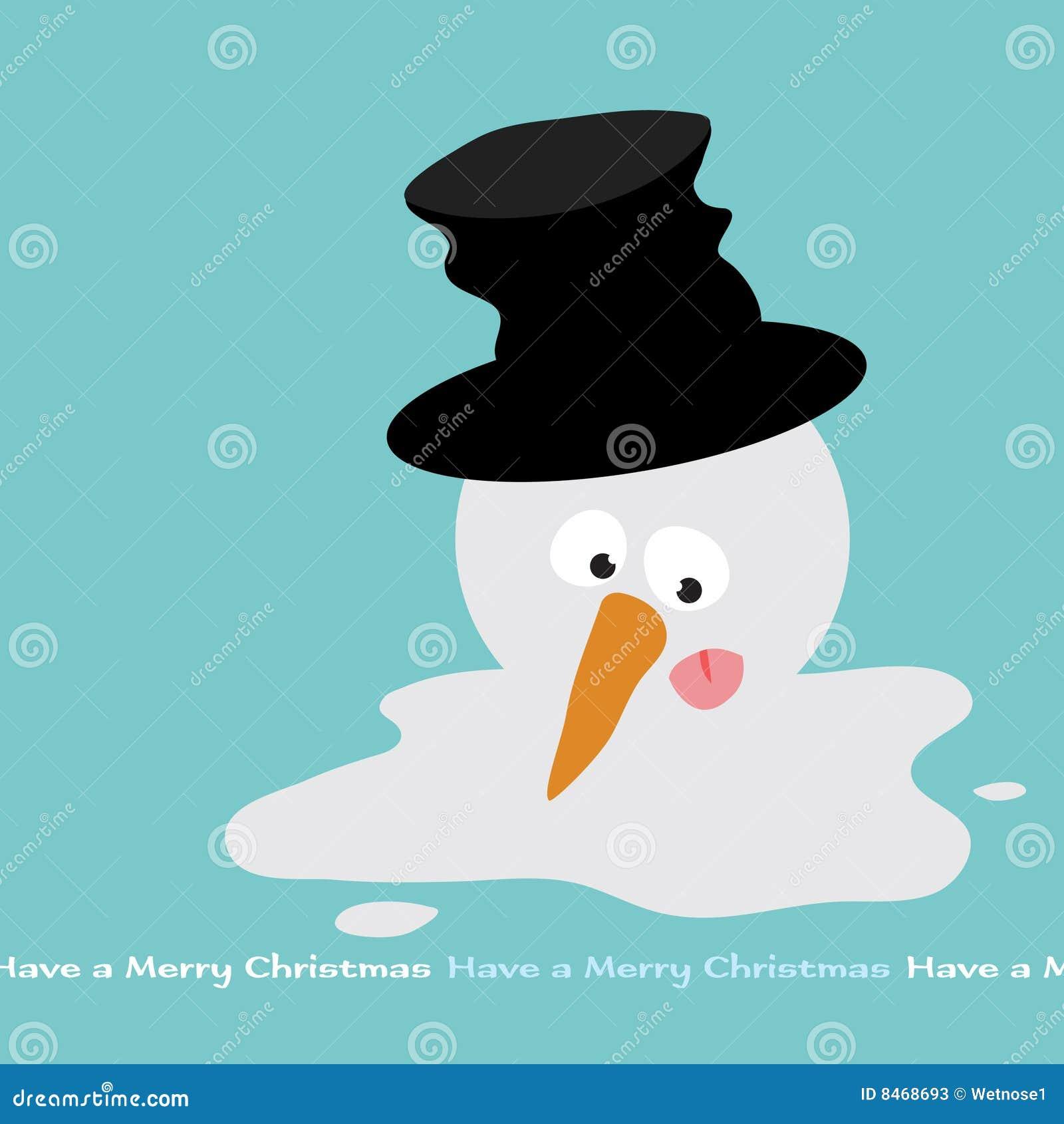 Smältande snowman