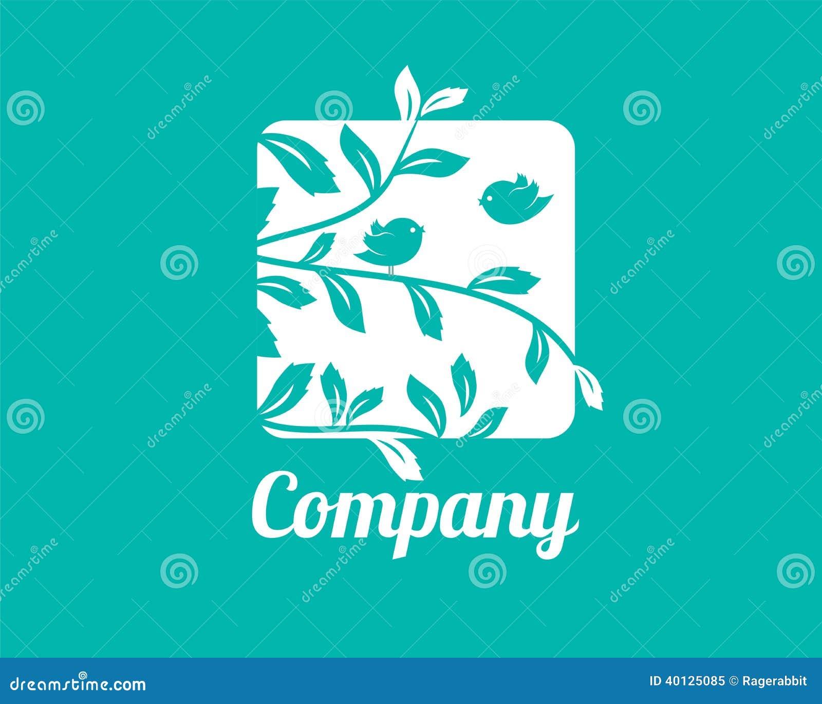 Små fåglar Logo Template