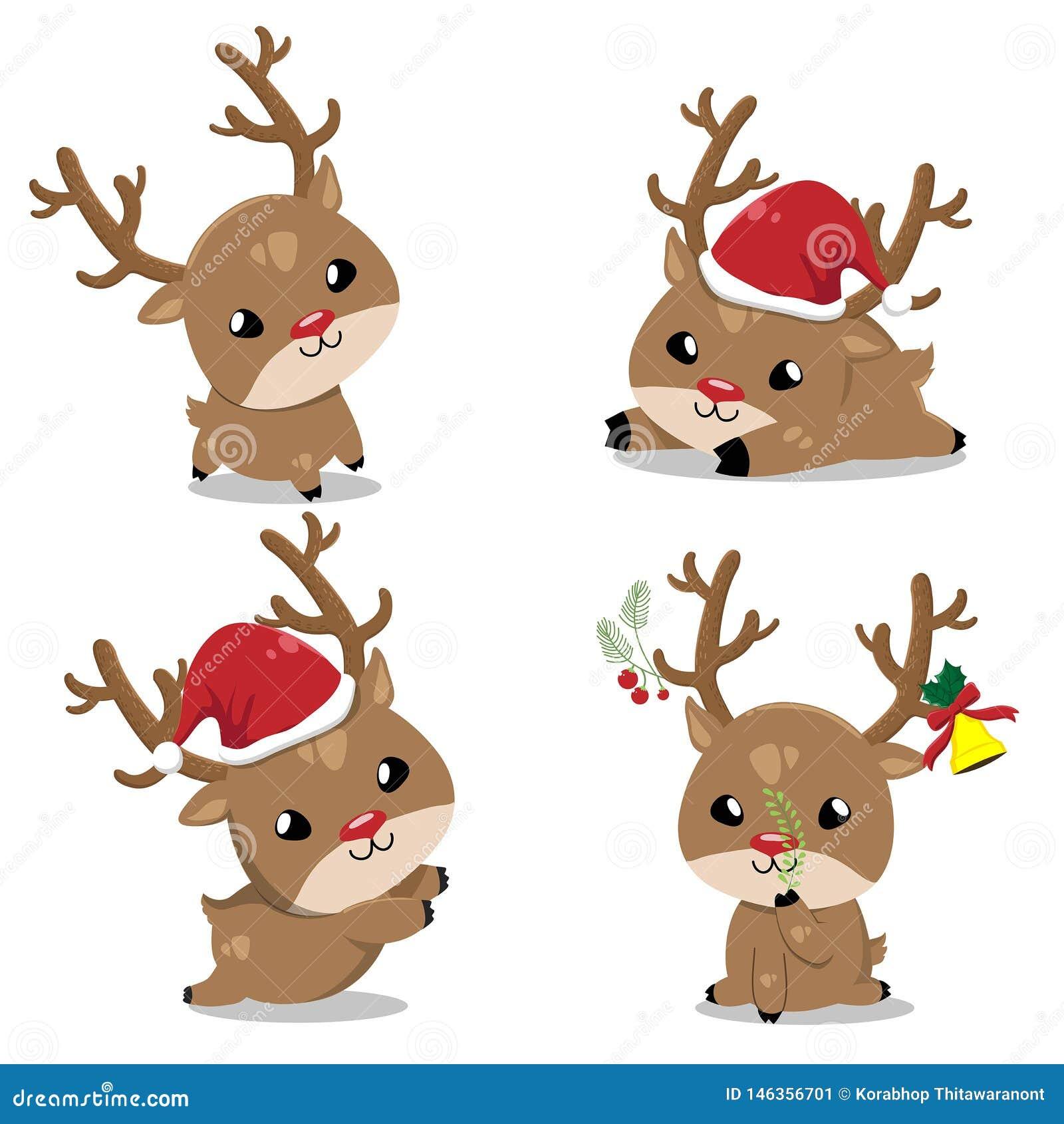 Små hjortar i juldag