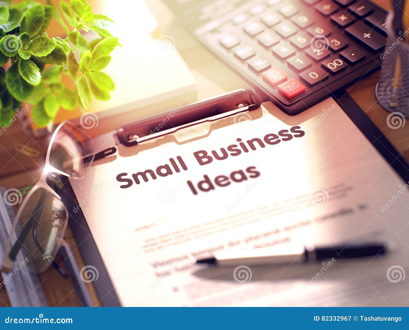 Små och medelstora företagidébegrepp på skrivplattan 3d