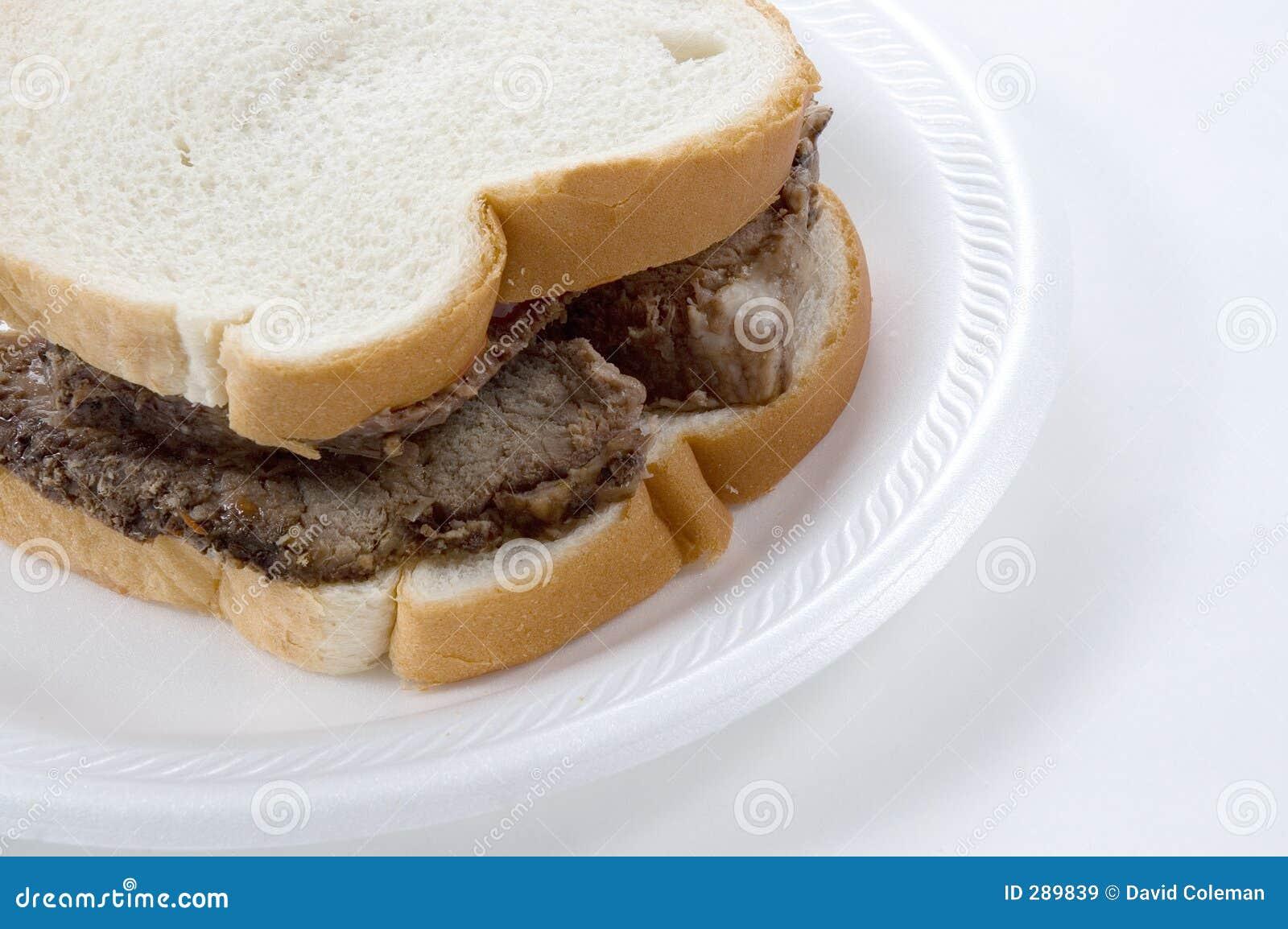 Smörgås för nötköttclosestek upp