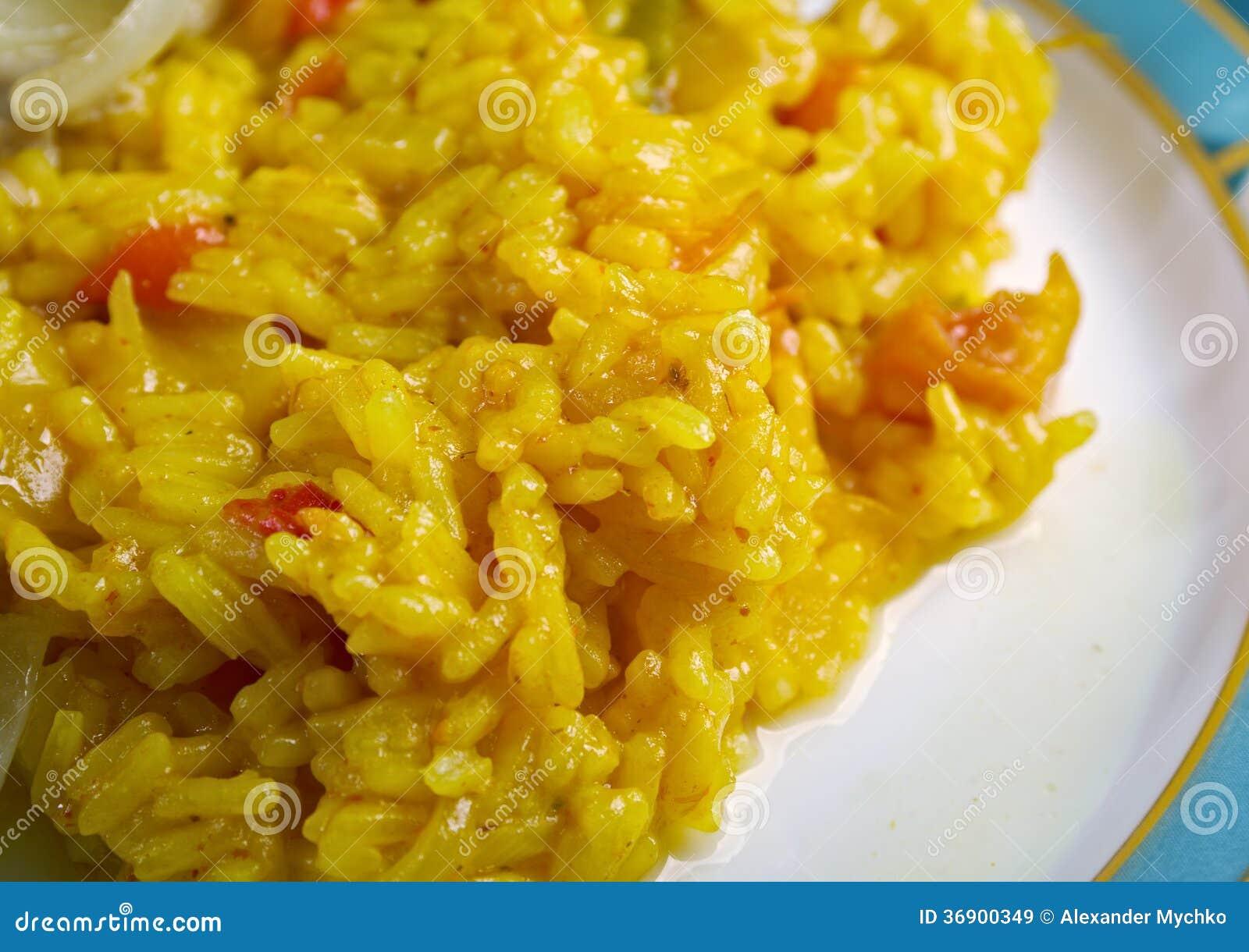 Smażący Rice z warzywem