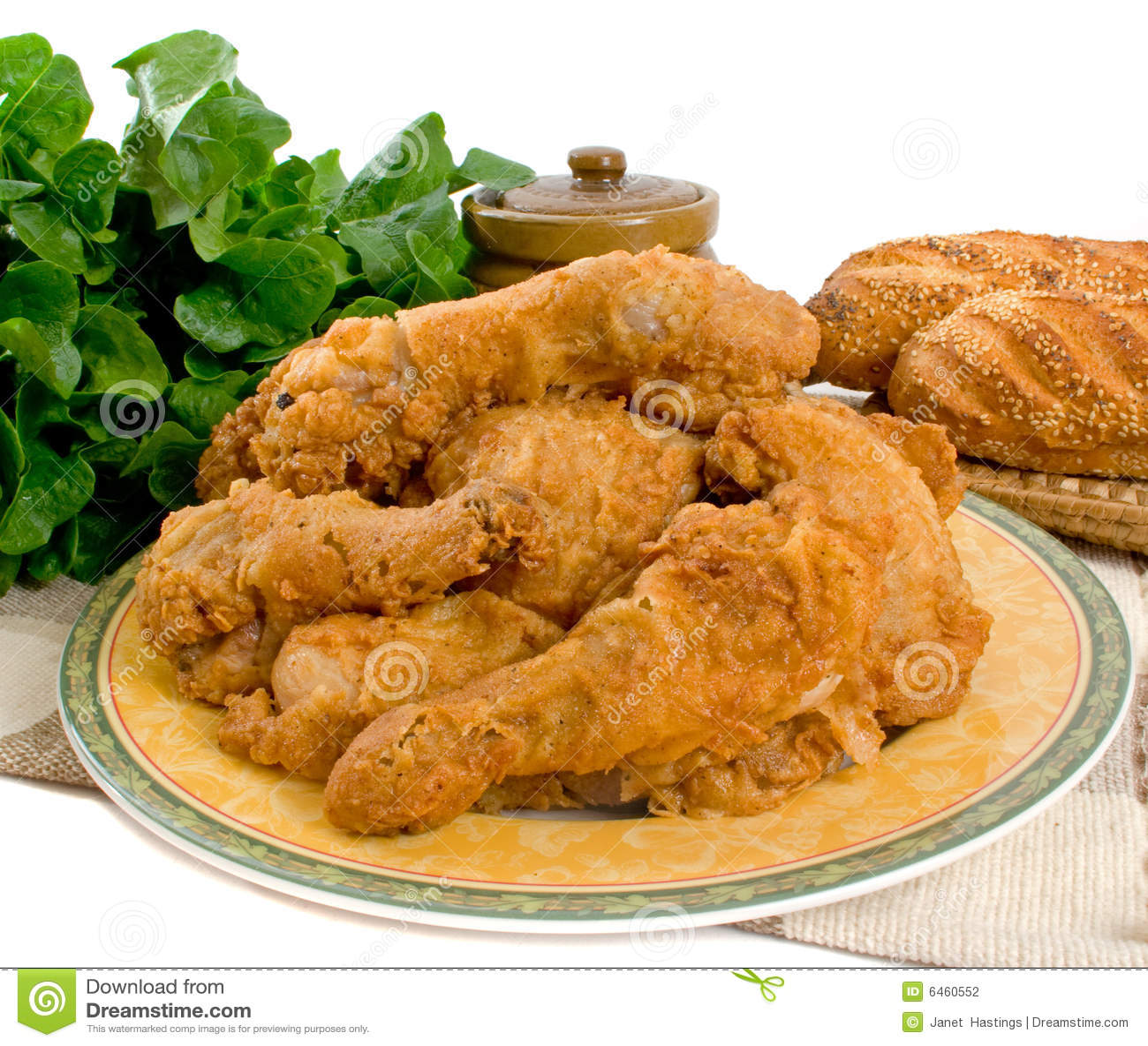 Smażone kurczaki na kawałki