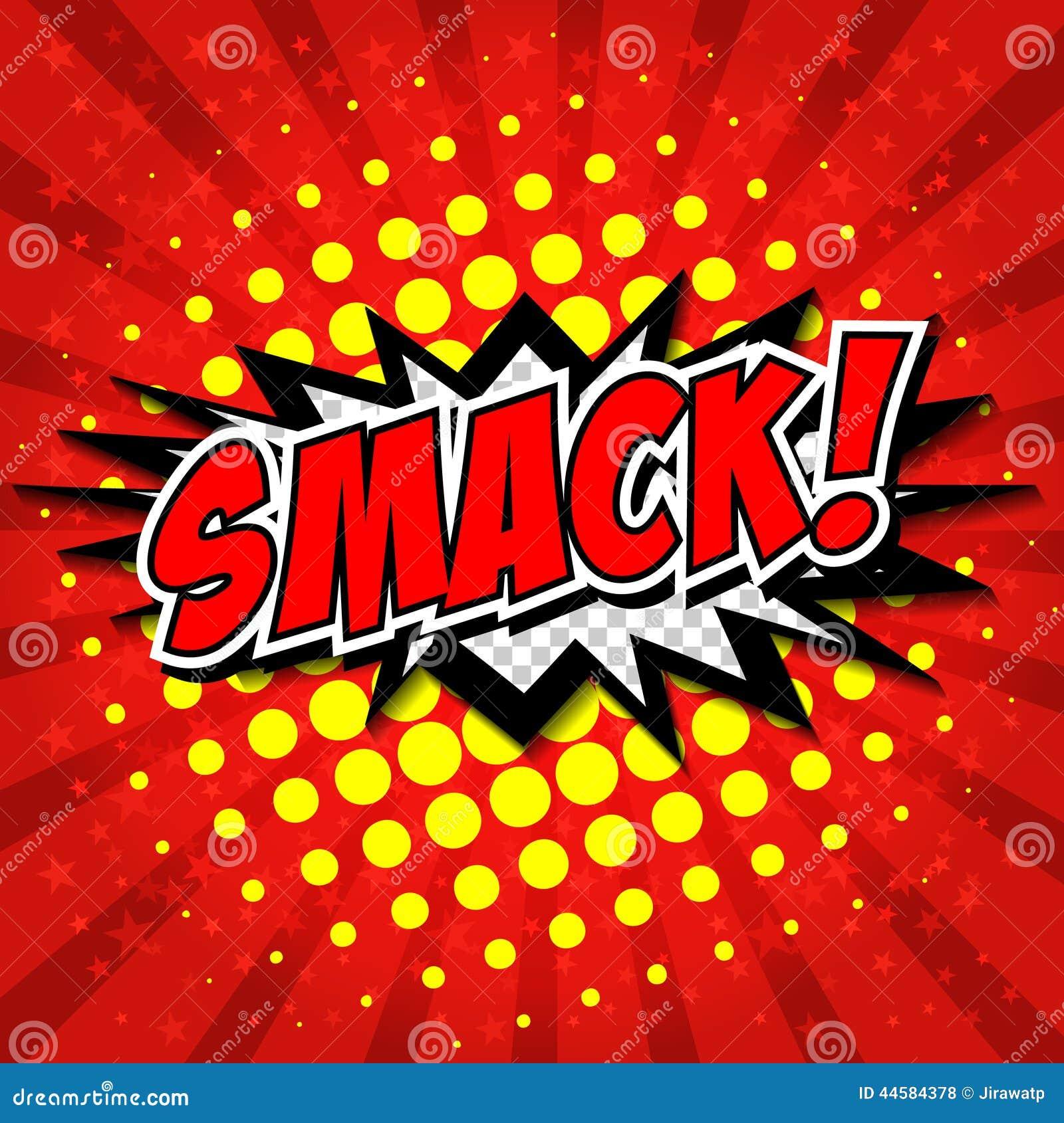 Smack Comic Speech Bubble Cartoon Stock Vector