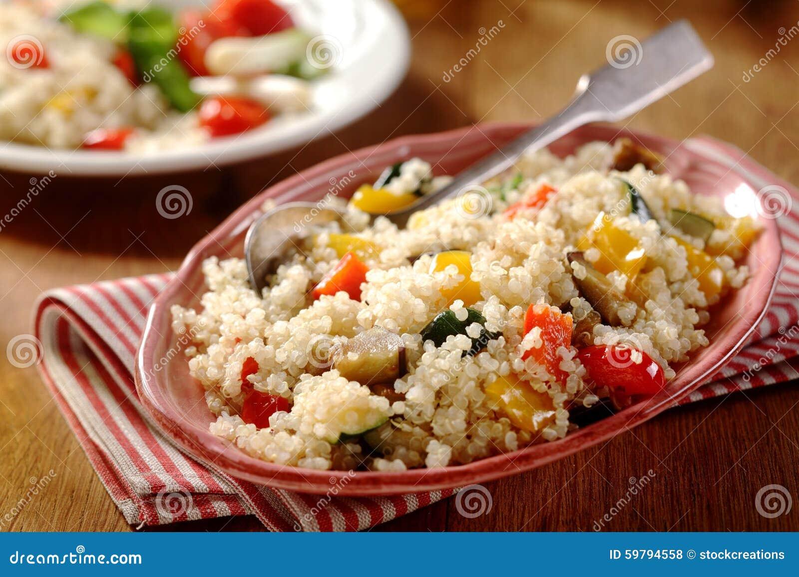 Smakelijk horizontaal quinoa menu stock foto afbeelding 59794558 - Hoek maaltijd ...
