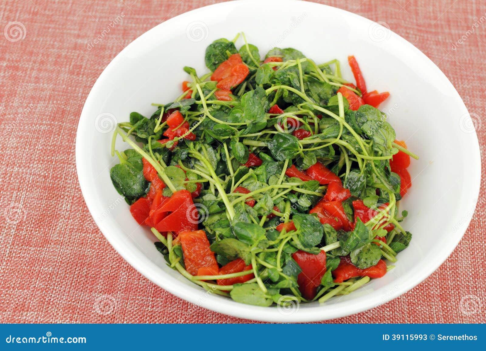 Smakelijke Witte waterkerssalade