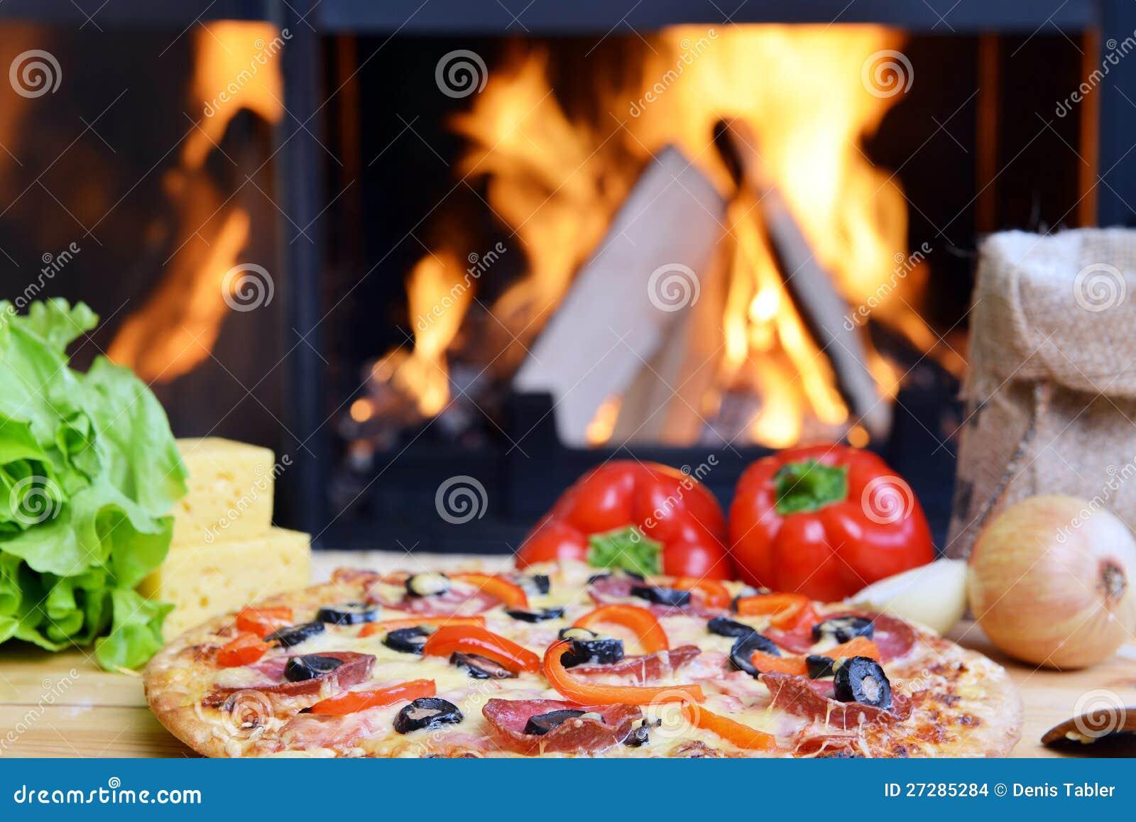 Smaklig pizza