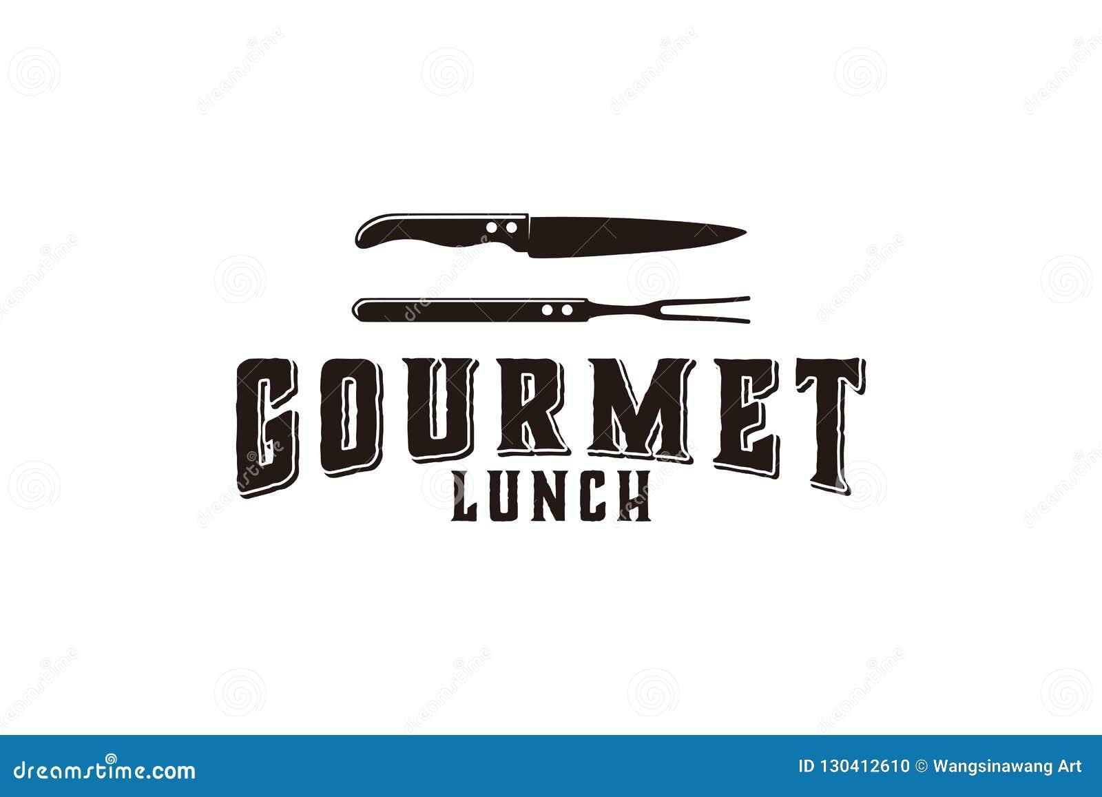 Smakosz, kuchnia, nóż, bbq logo Projektuje inspirację Odizolowywającą na Białym tle
