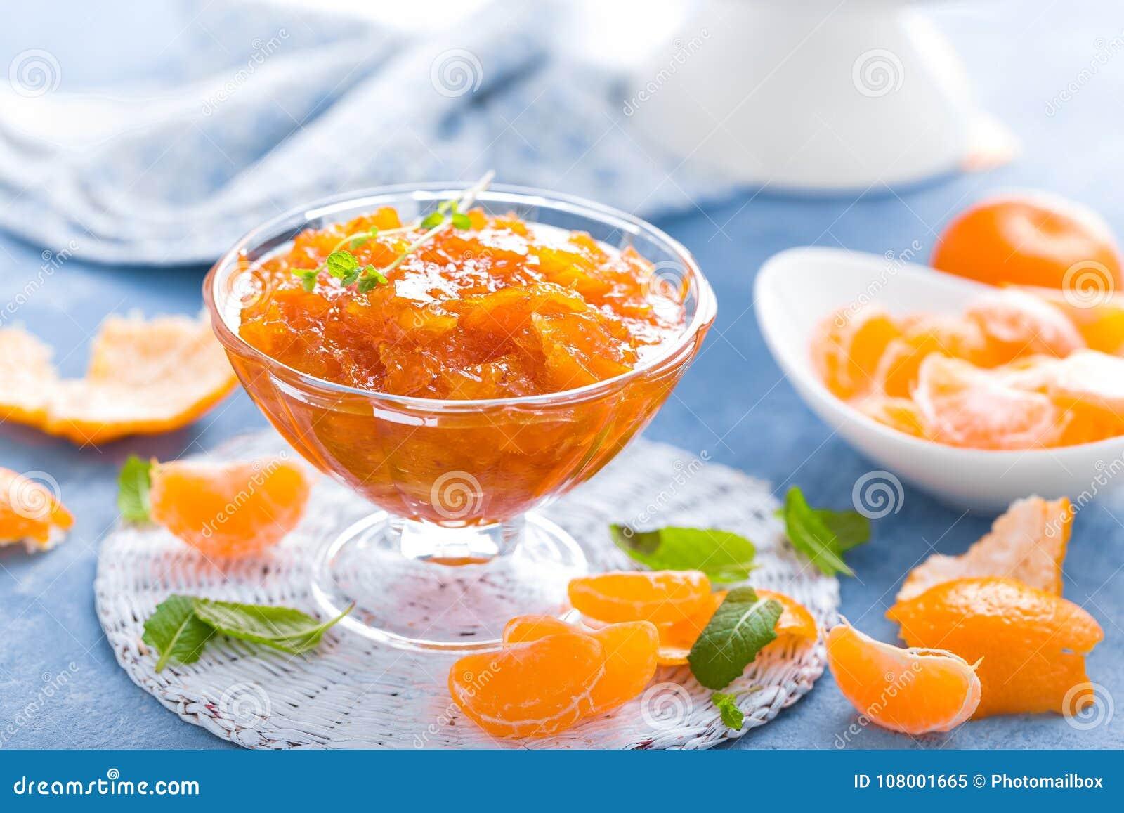 Smakowity mandarynka pomarańczowy dżem Tangerine confiture, marmolada