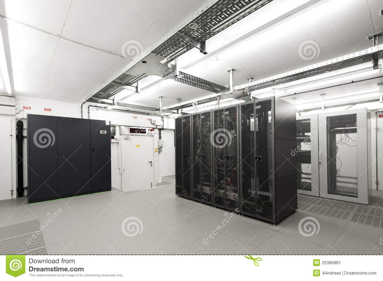 Small Air conditioned Computer Server Room Stock Image Image of
