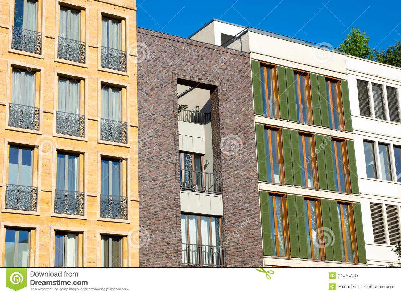 Small Apartment Houses Royalty Free Stock Photography