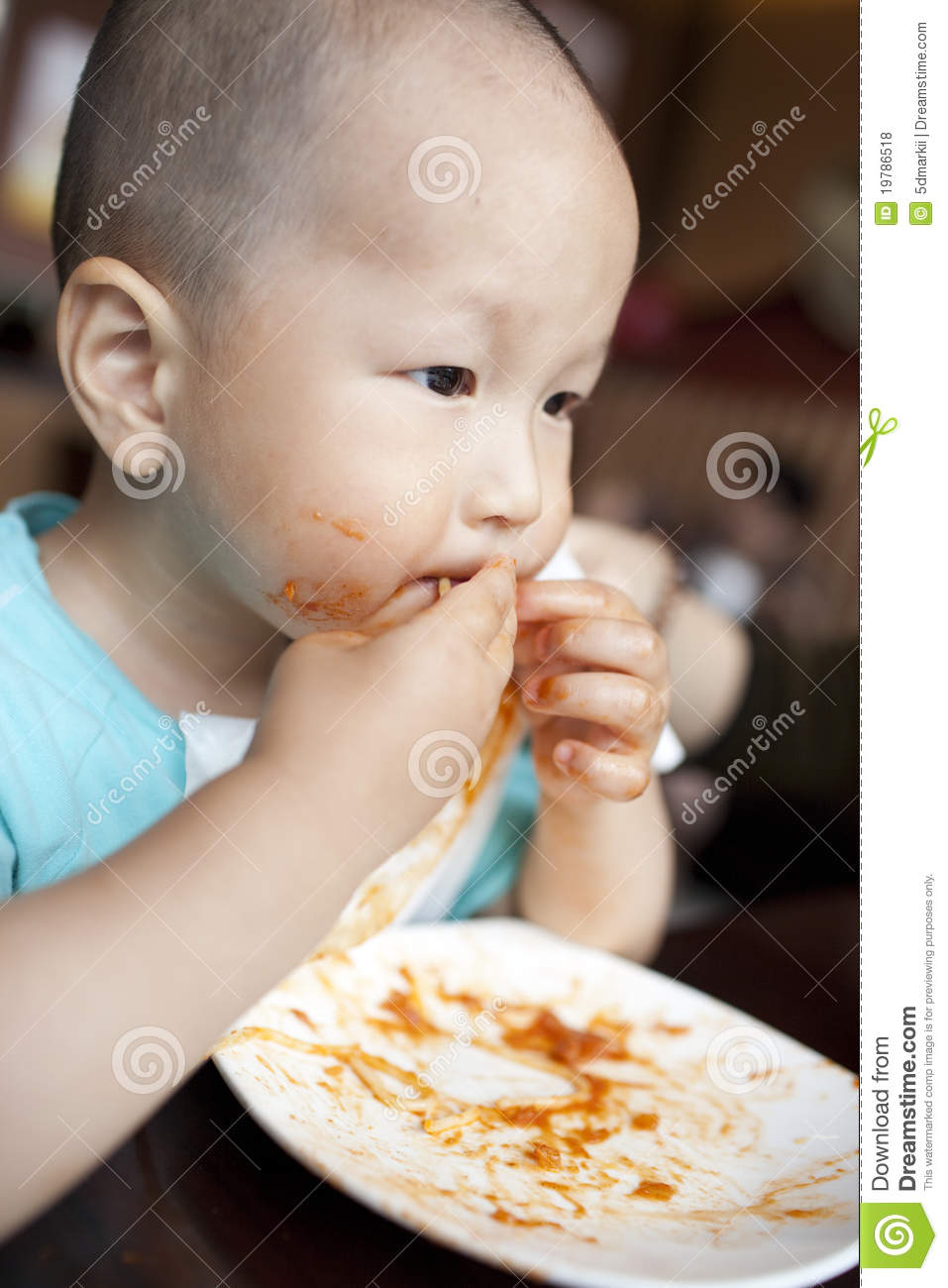 Asian Baby Eating 70