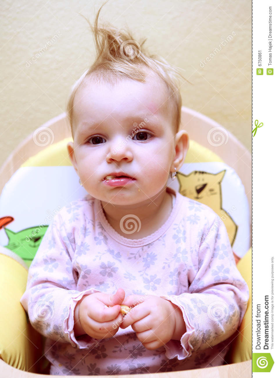Small Baby Girl Stock Image Image 6750861