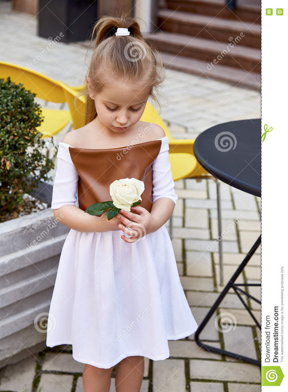 fashion girls dress - cute small babies with yellow color dress.