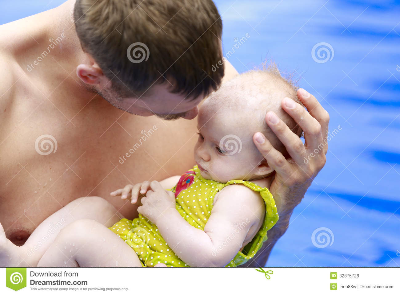Small baby girl is swimming in the pool with daddy royalty free stock photos image 32875728 3 month old baby swimming pool