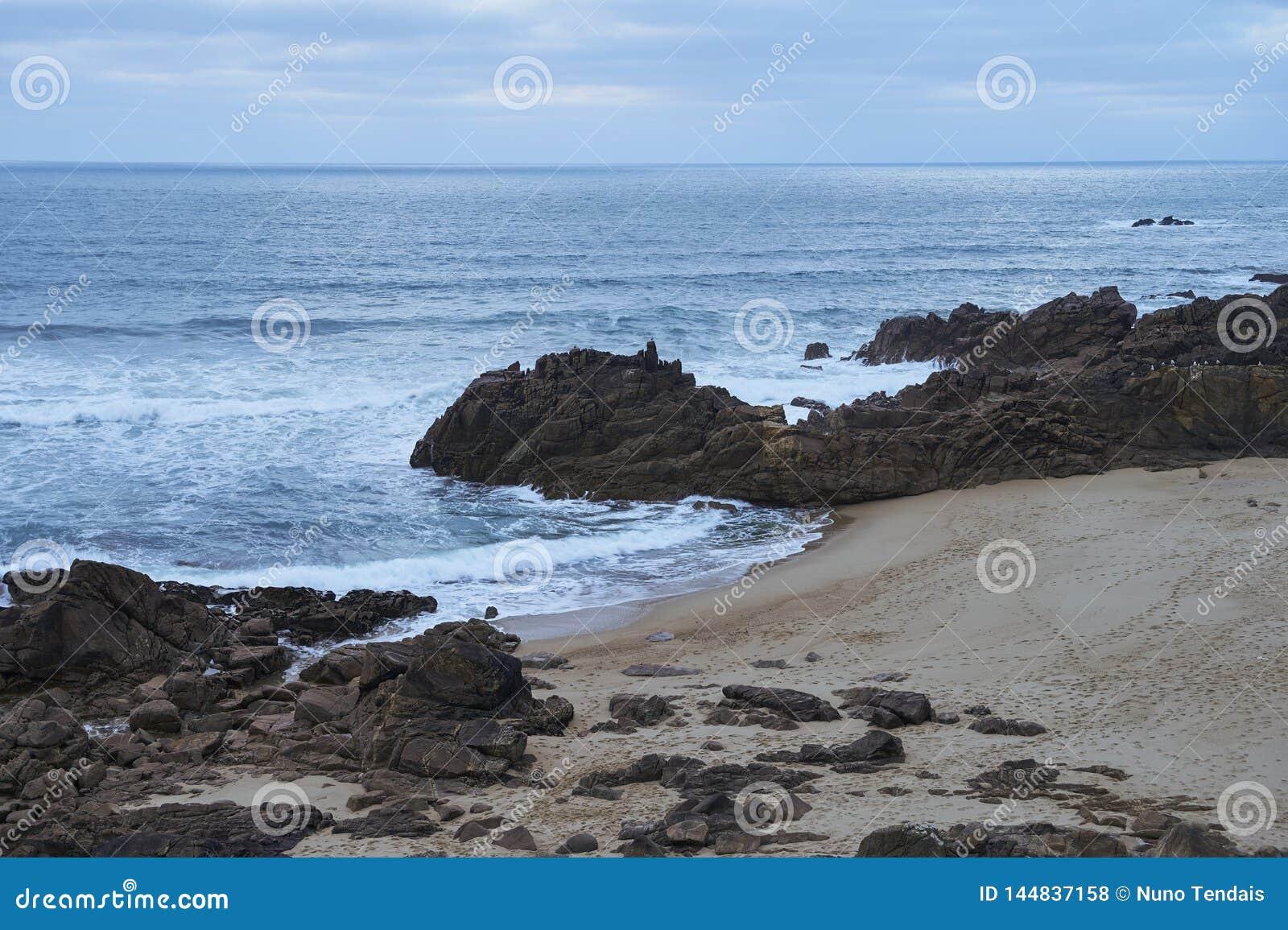 Beach bay of castro de São Paio