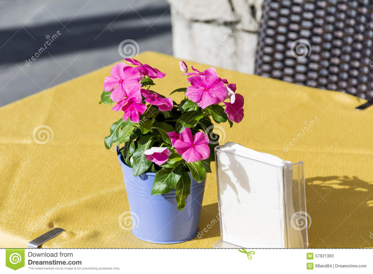 Small Beautiful Bouquet Of Pink Flowers For Restaurant Table