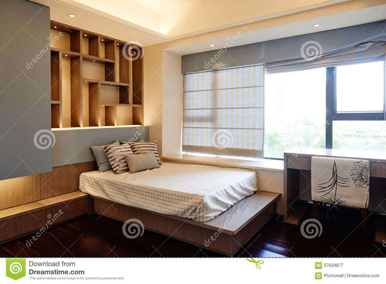 Small Bedroom Stock Image Image Of Ceiling Elegance 57634877
