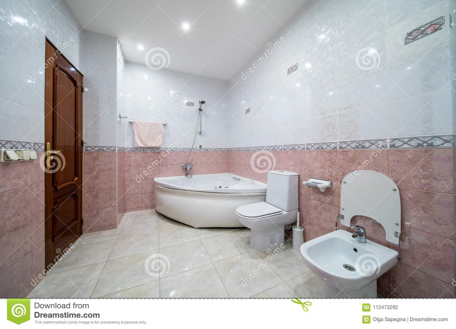 Small beige bathroom stock photo. Image of floor, faucet - 112473292