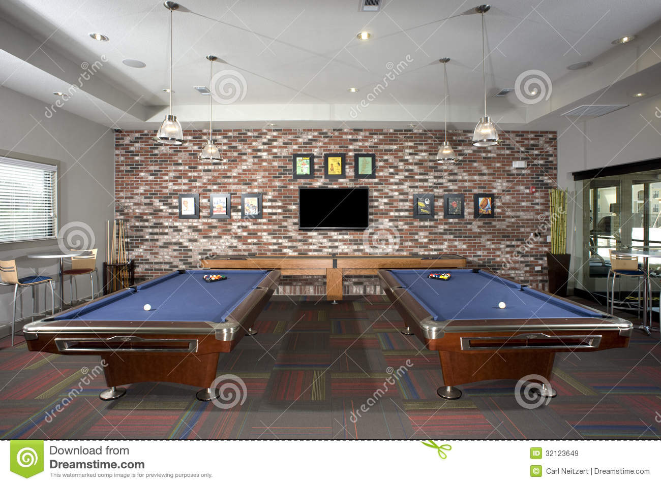 Small billiards room royalty free stock images image for Small pool table room ideas