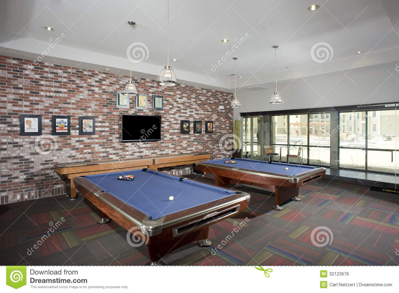Small billiards room royalty free stock image image - Smallest room for pool table ...