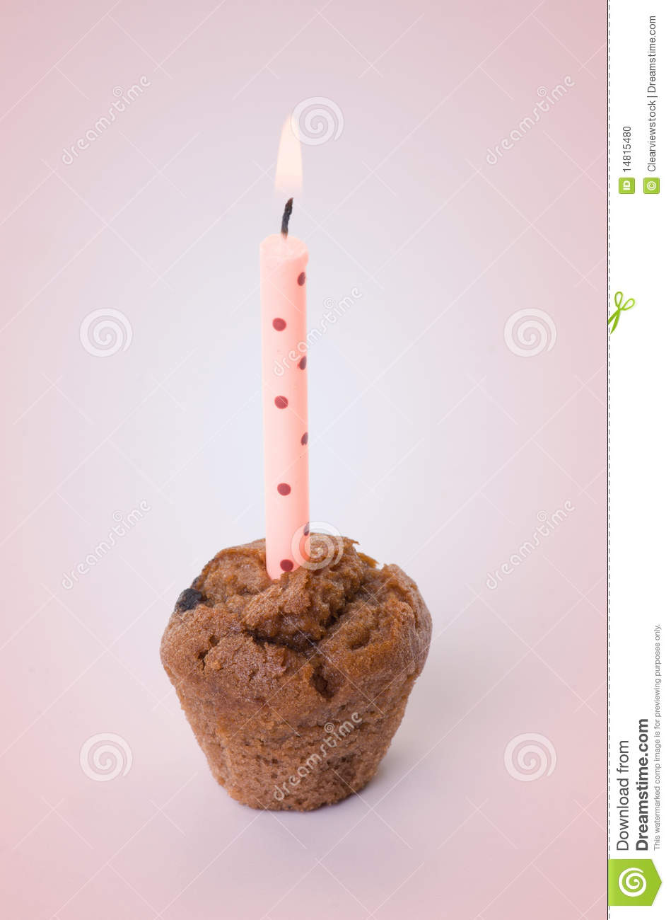 Small Birthday Cake With One Candle Stock Photo Image 14815480