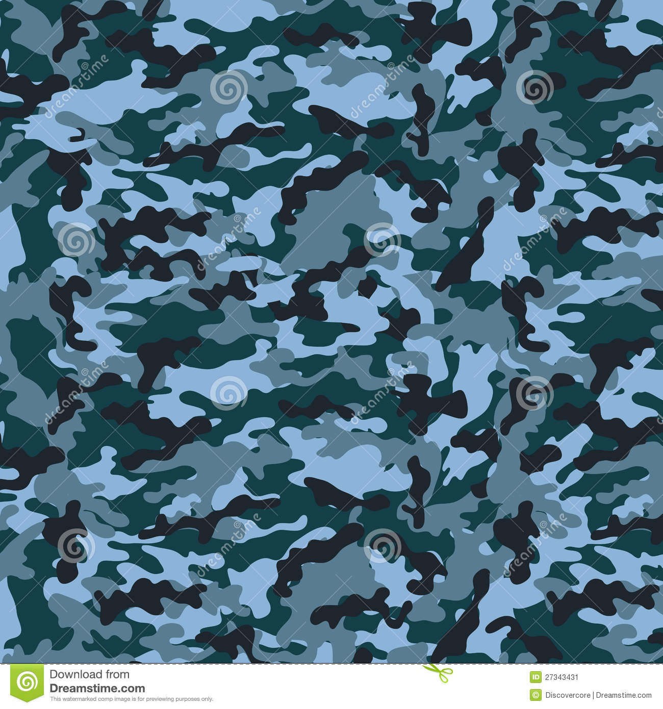 Small Blue Camouflage stock vector. Image of full, olive