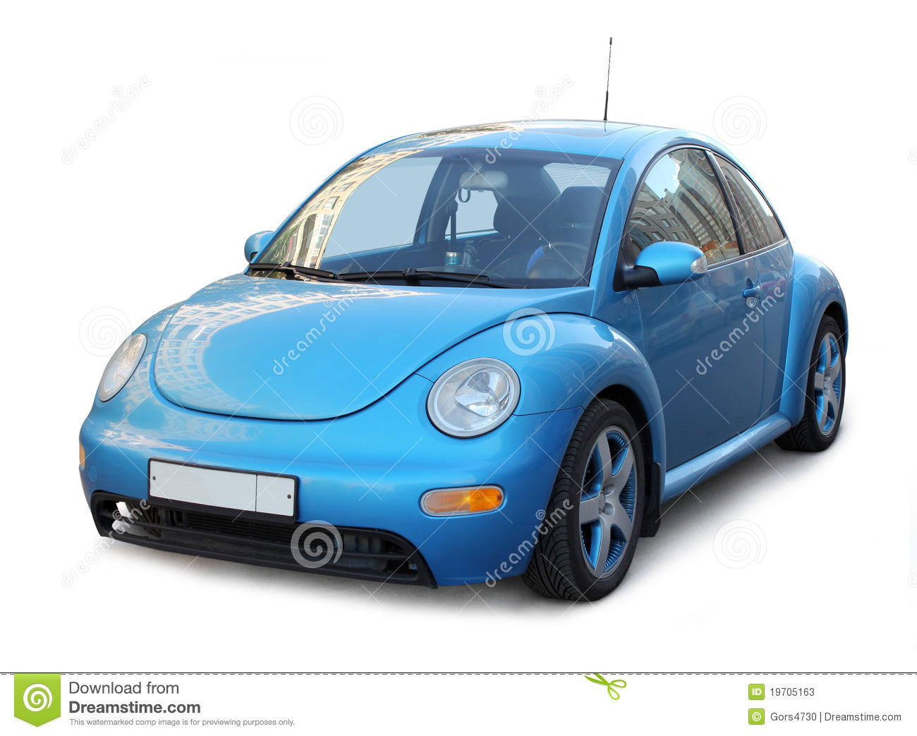 Small Blue Car stock image. Image of custom, beautiful ...