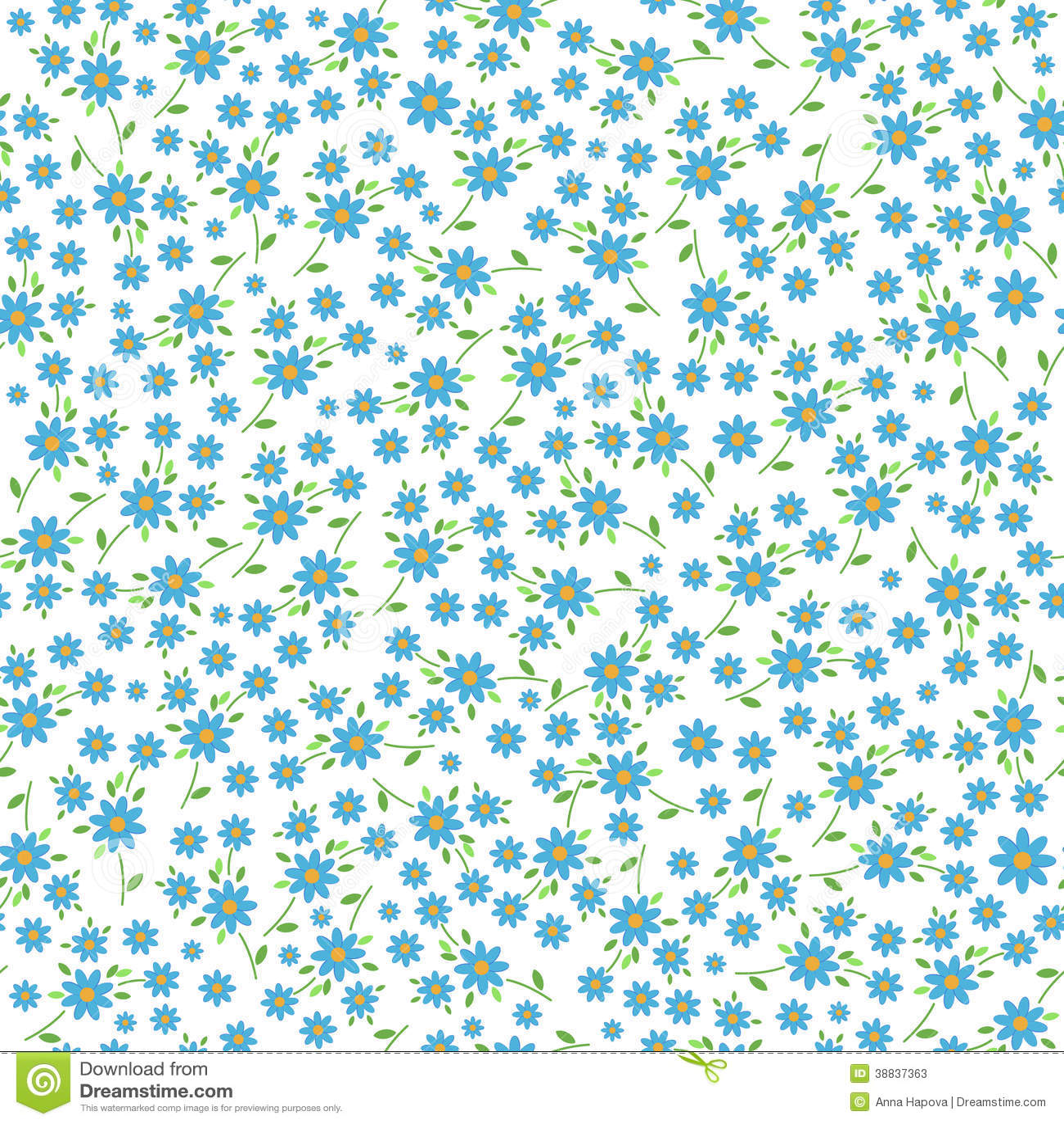 Small Blue Flowers Seamless Pattern Stock Illustration Illustration Of Spring Flowers 38837363