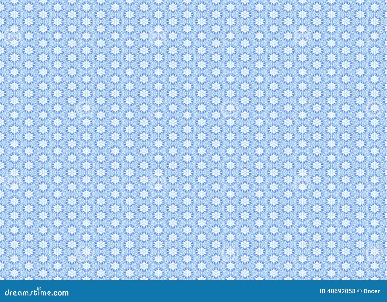 Small Blue Flowers Wallpaper Pattern Stock Illustration