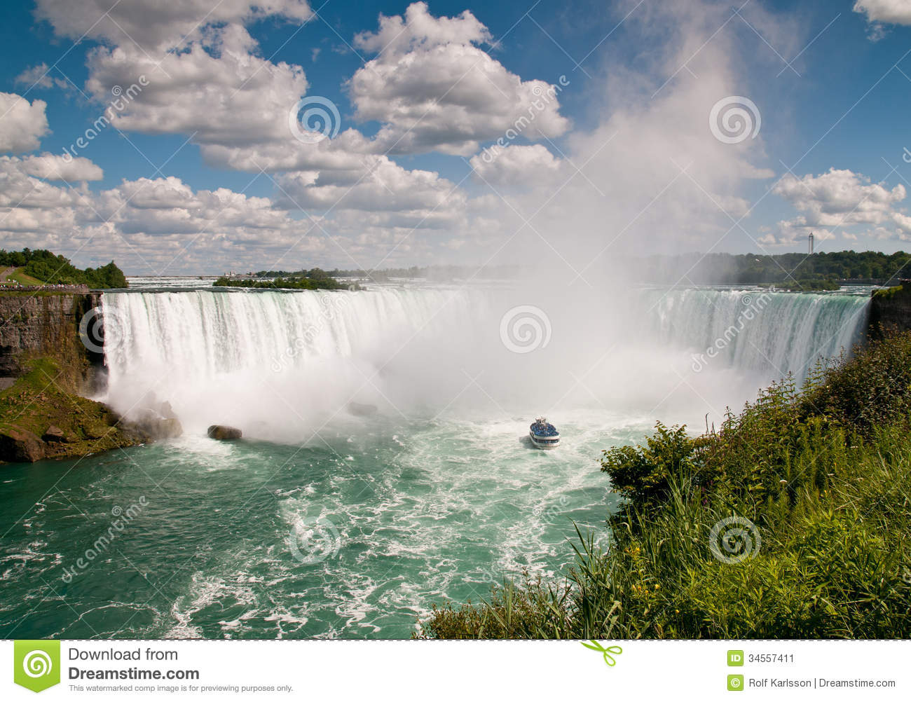 Small Boat (Maid Of The Mist) Below The Niagara Falls Stock Image - Image of colour, steep: 34557411
