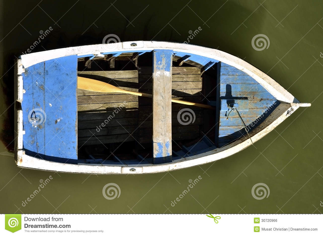 Small Boat Seen From Above Royalty Free Stock Image - Image: 30720966