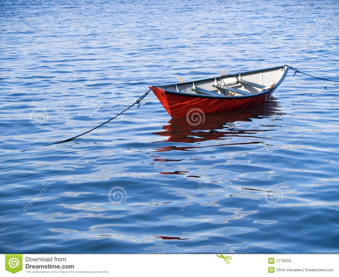 Small Boat In Vivid Water Stock Images - Image: 1778334
