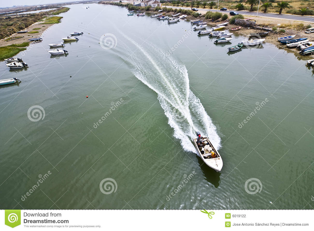 Small Boat Water Channel Stock Photography - Image: 6019122