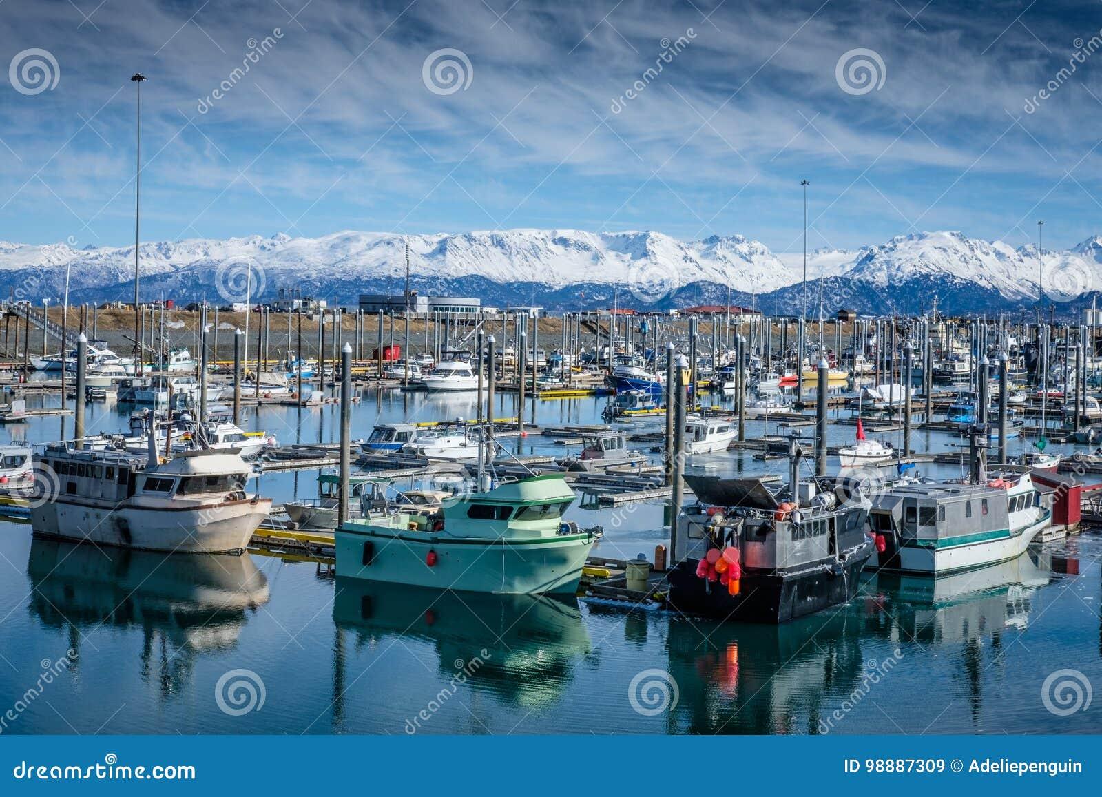 Homer Alaska Fishing Harbor