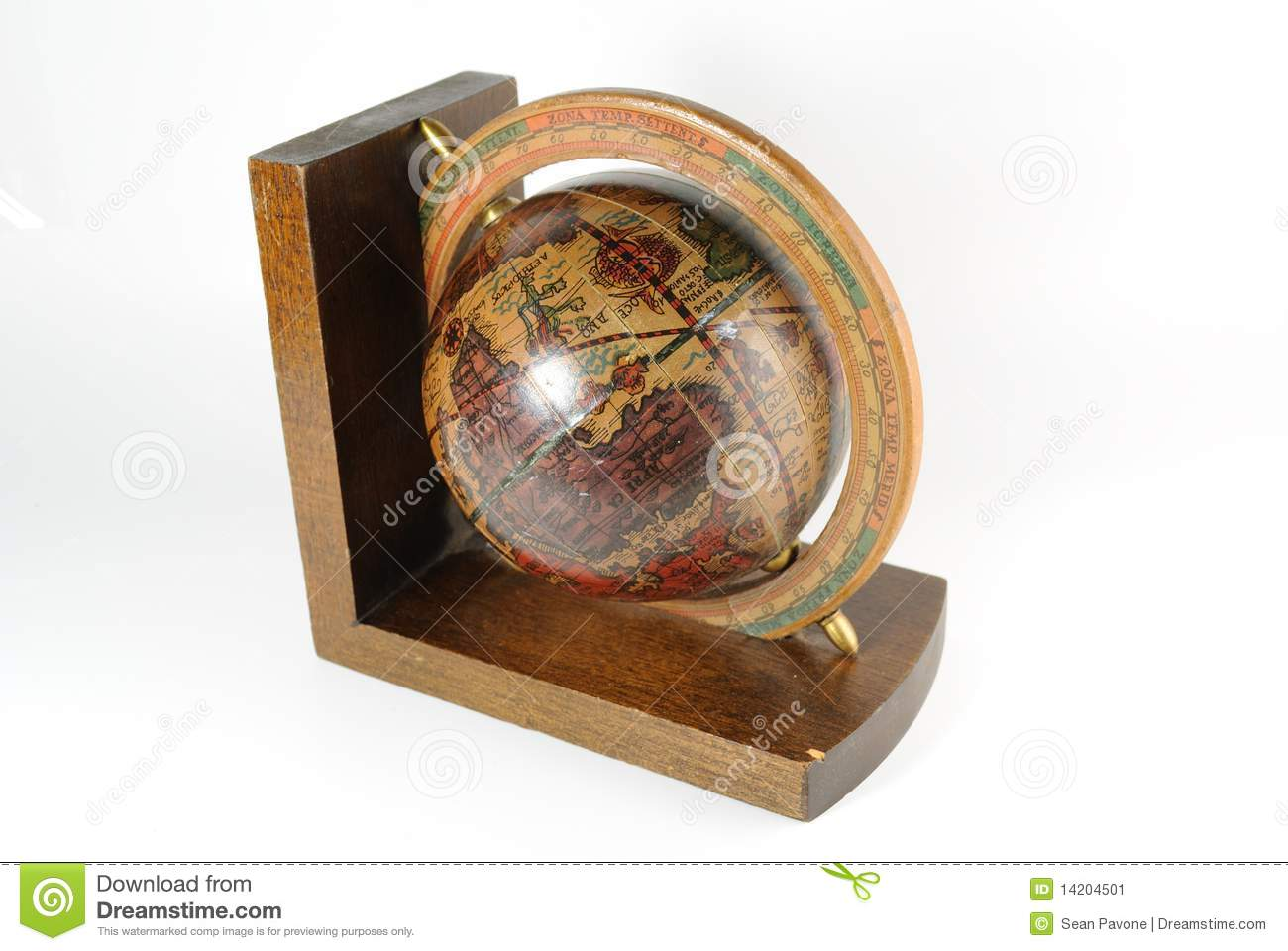 Small Bookend Globe Stock Image Image 14204501