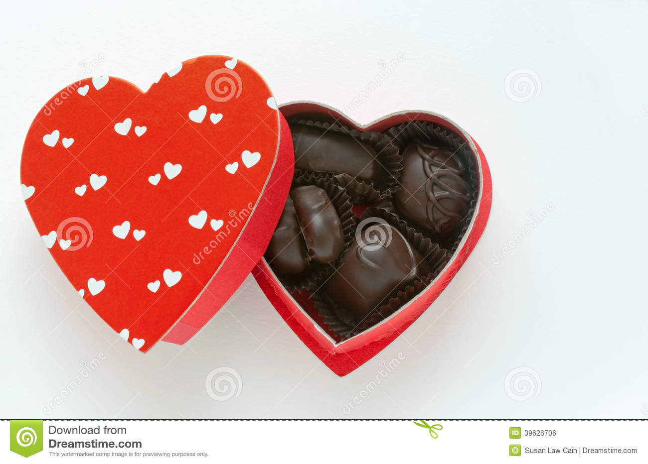 Small Box Of Chocolates Stock Photo - Image: 39626706