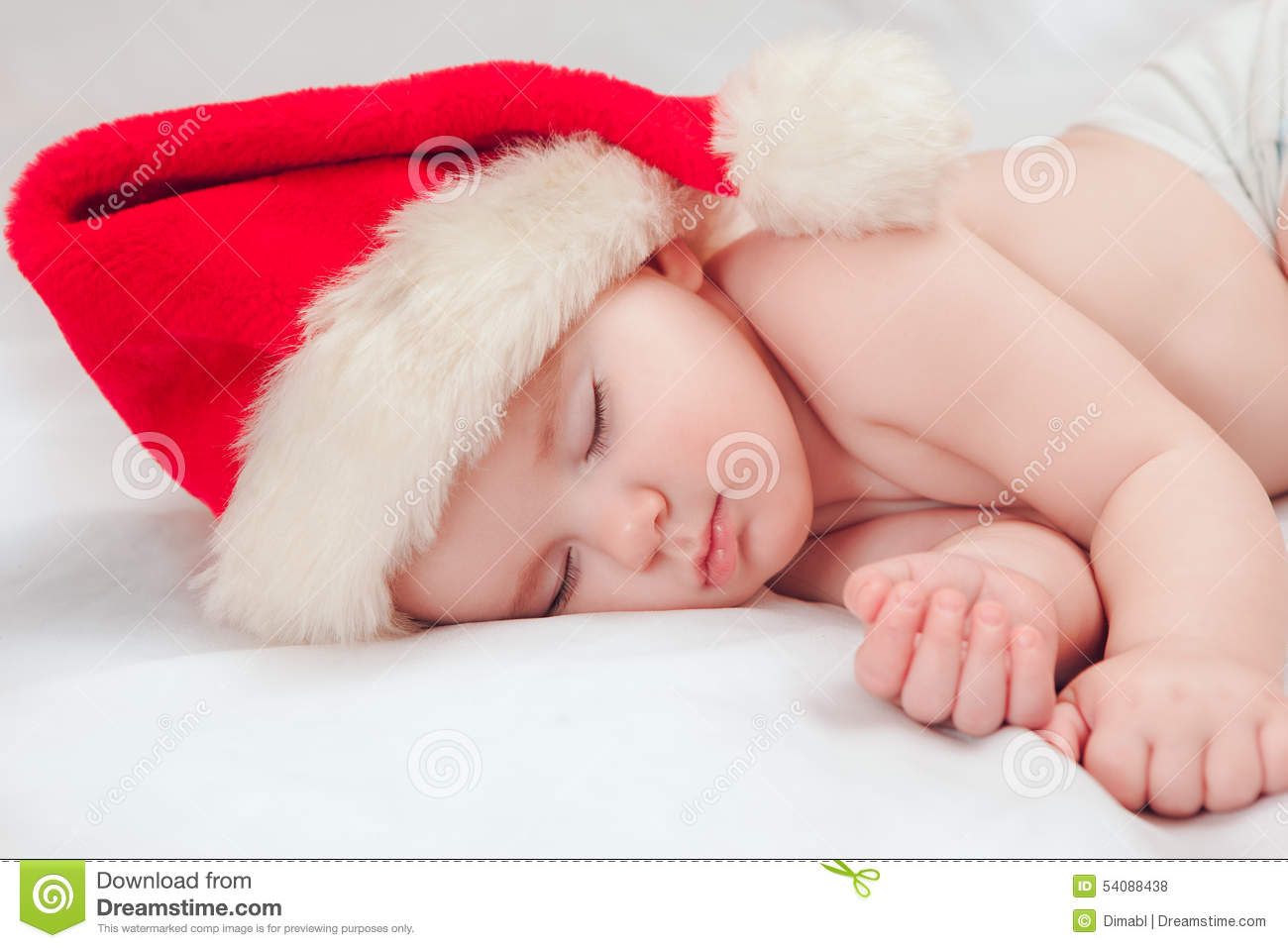df9a3fd44 Small Boy Sleeping In A New Year's Cap Stock Photo - Image of ...