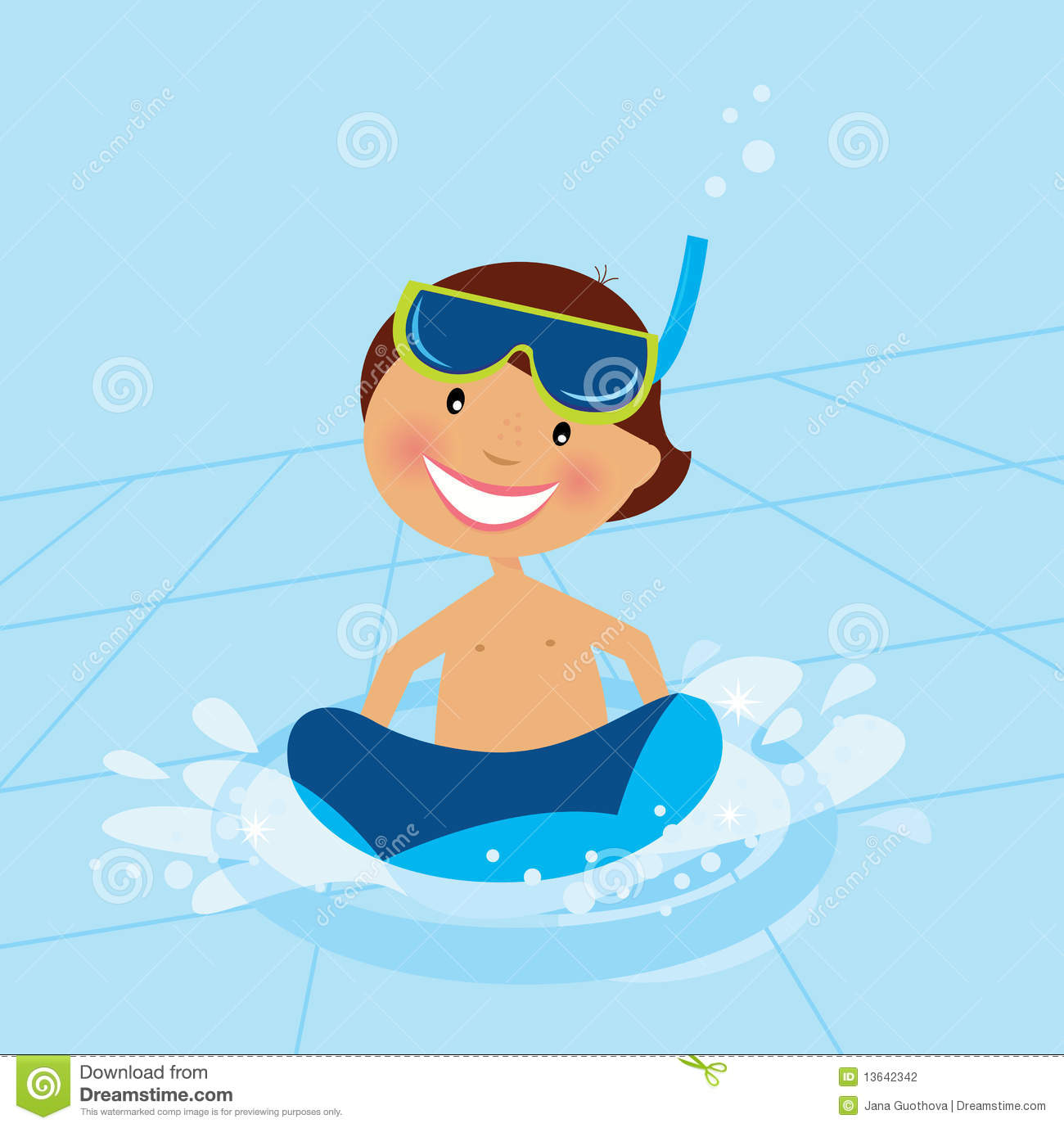 Small Boy Swimming In Water Pool Stock Photography - Image ...