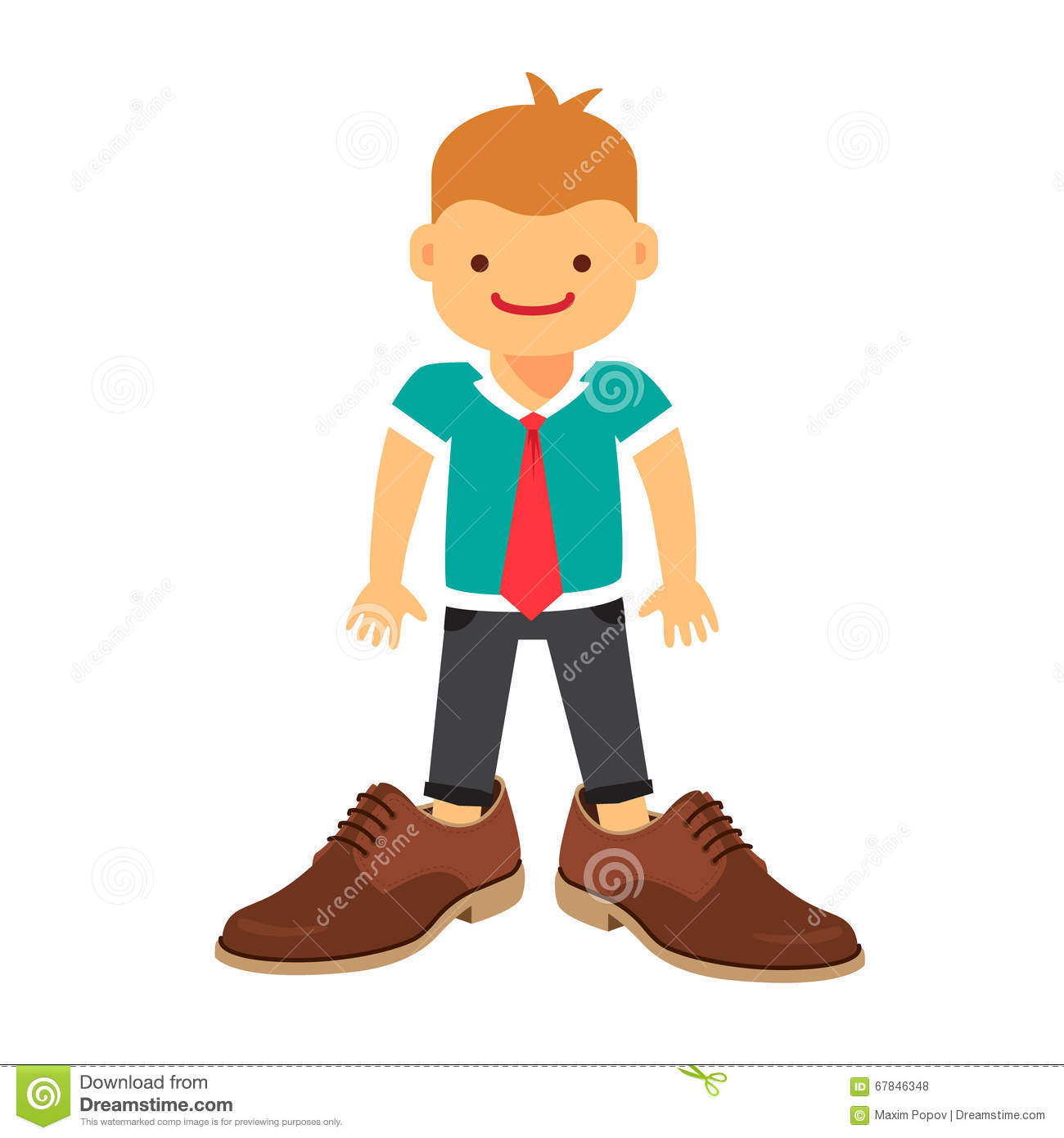 Child Wearing Adult Shoes Royalty-Free Stock Photo | CartoonDealer.com #12647265