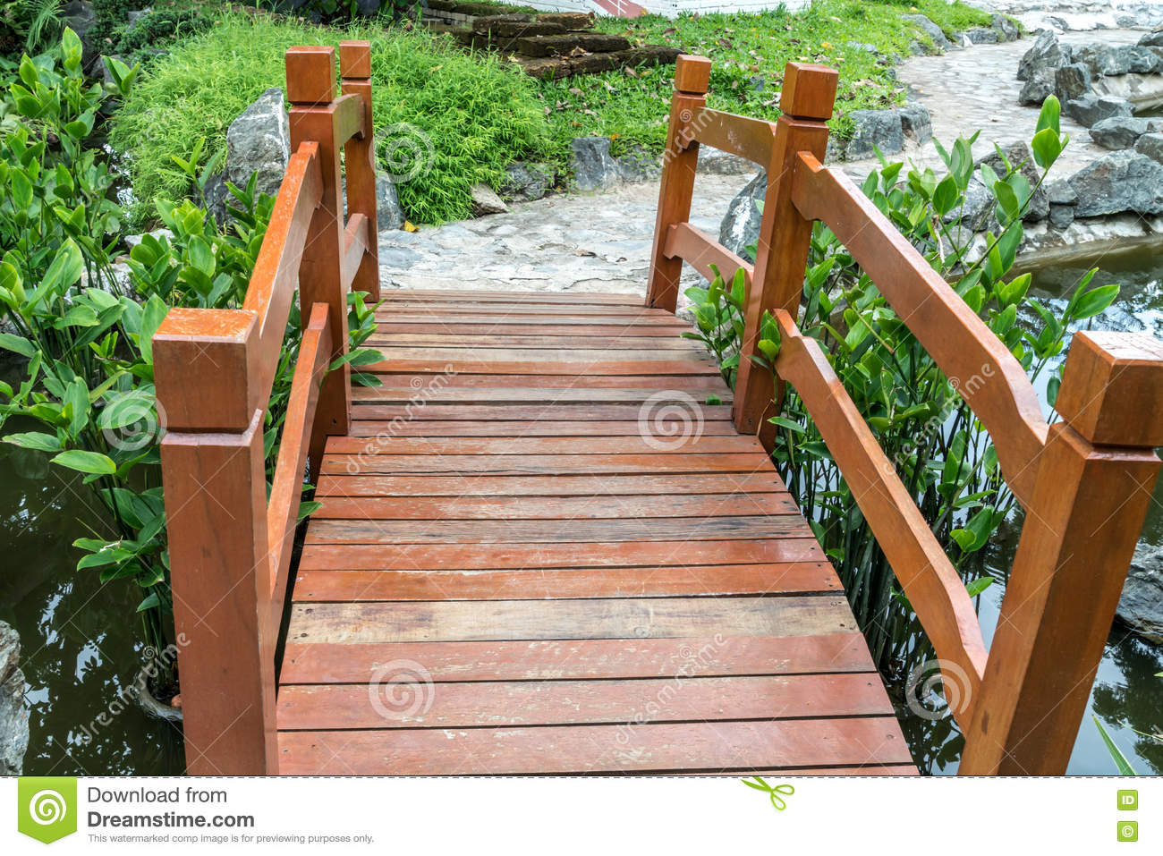 Download Small Bridge In Garden Stock Image. Image Of Scenic, Summer    73831277