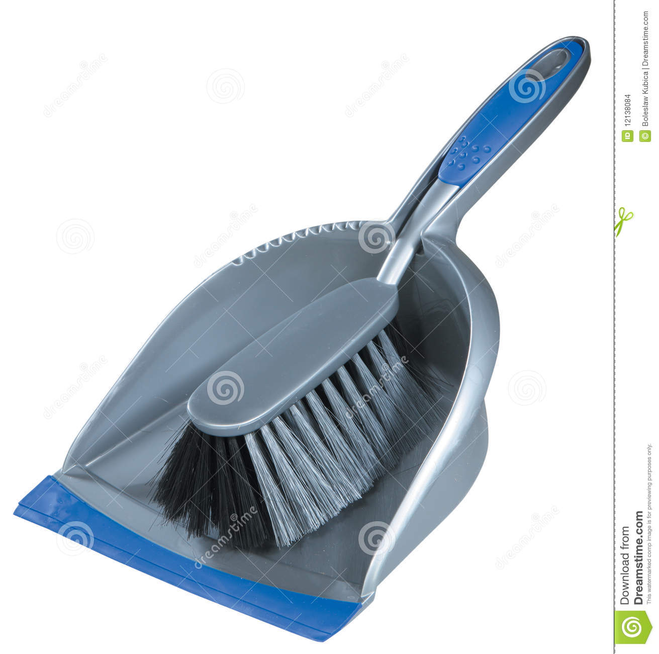 Small broom and dustpan stock photo  Image of blue, plastic