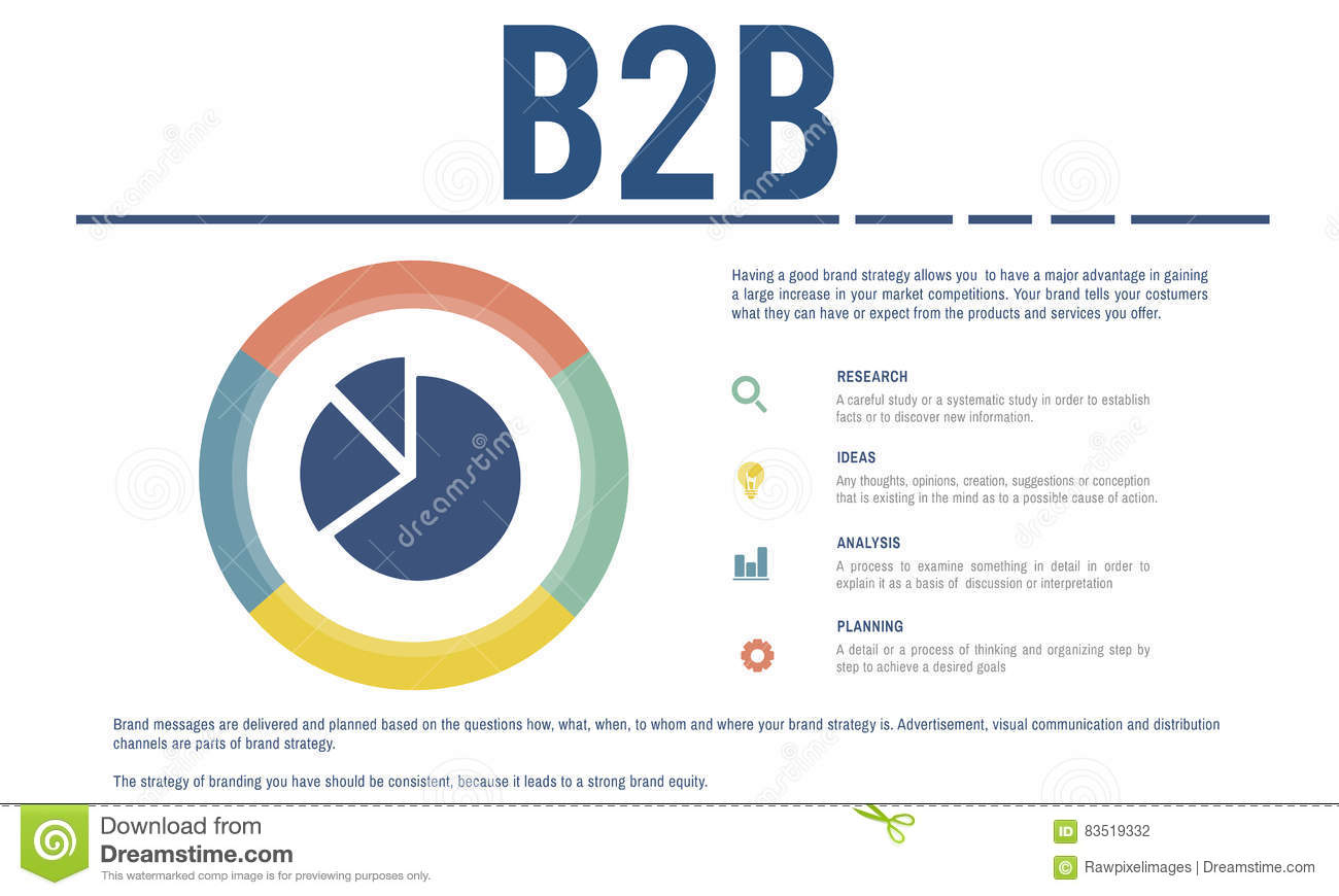 Small Business Analysis Pie Chart Concept Stock Illustration