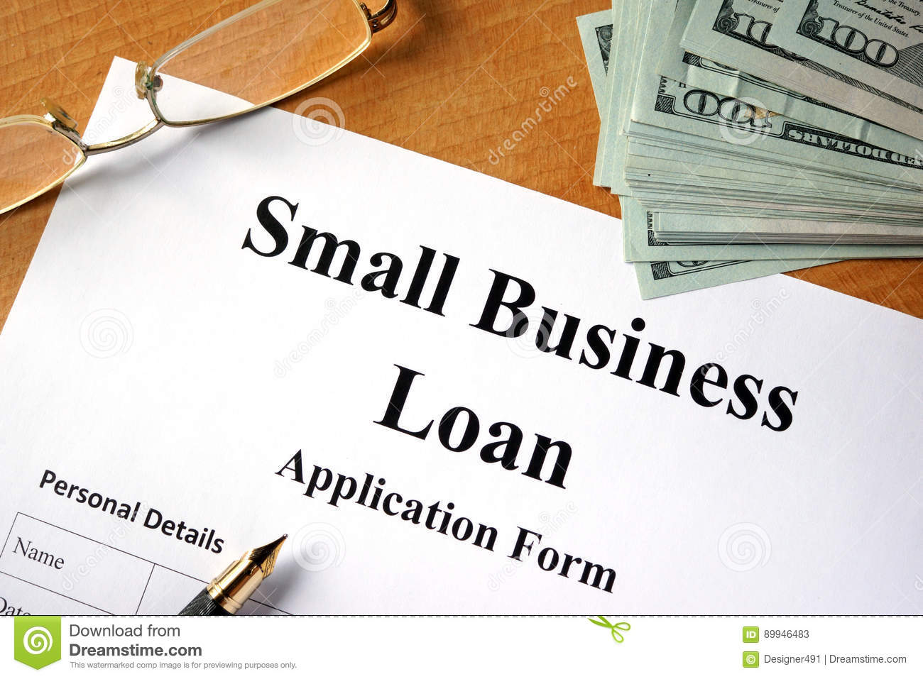 Small business loan form stock image image of lender 89946483 small business loan form friedricerecipe Images
