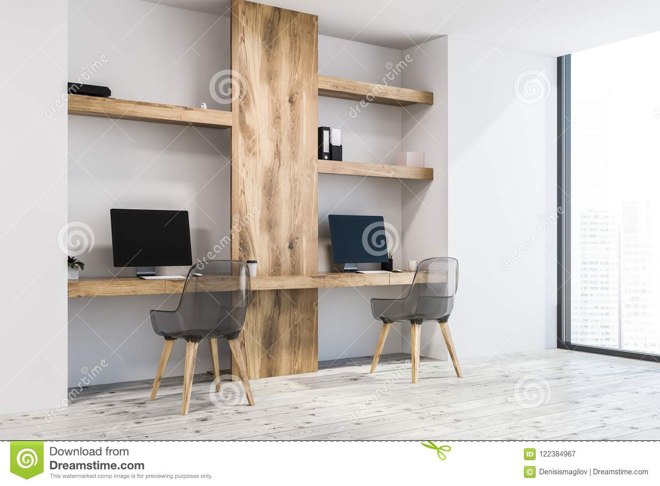 Small Business Office Freelance Side View Stock Illustration Illustration Of Cool Empty 122384967