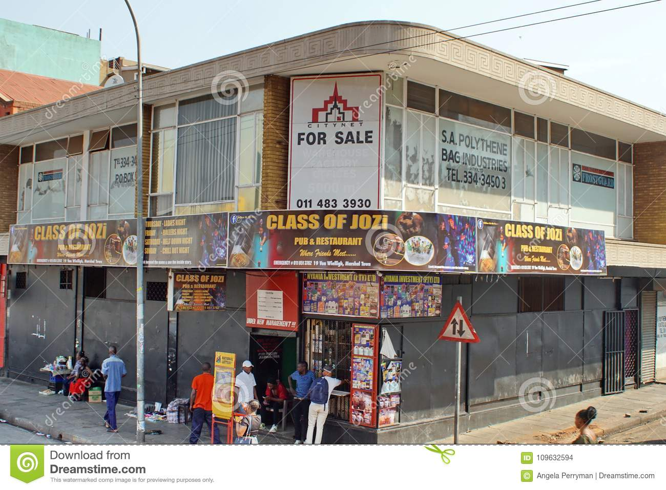 Small Businesses In Southern Johannesburg Editorial Stock Image
