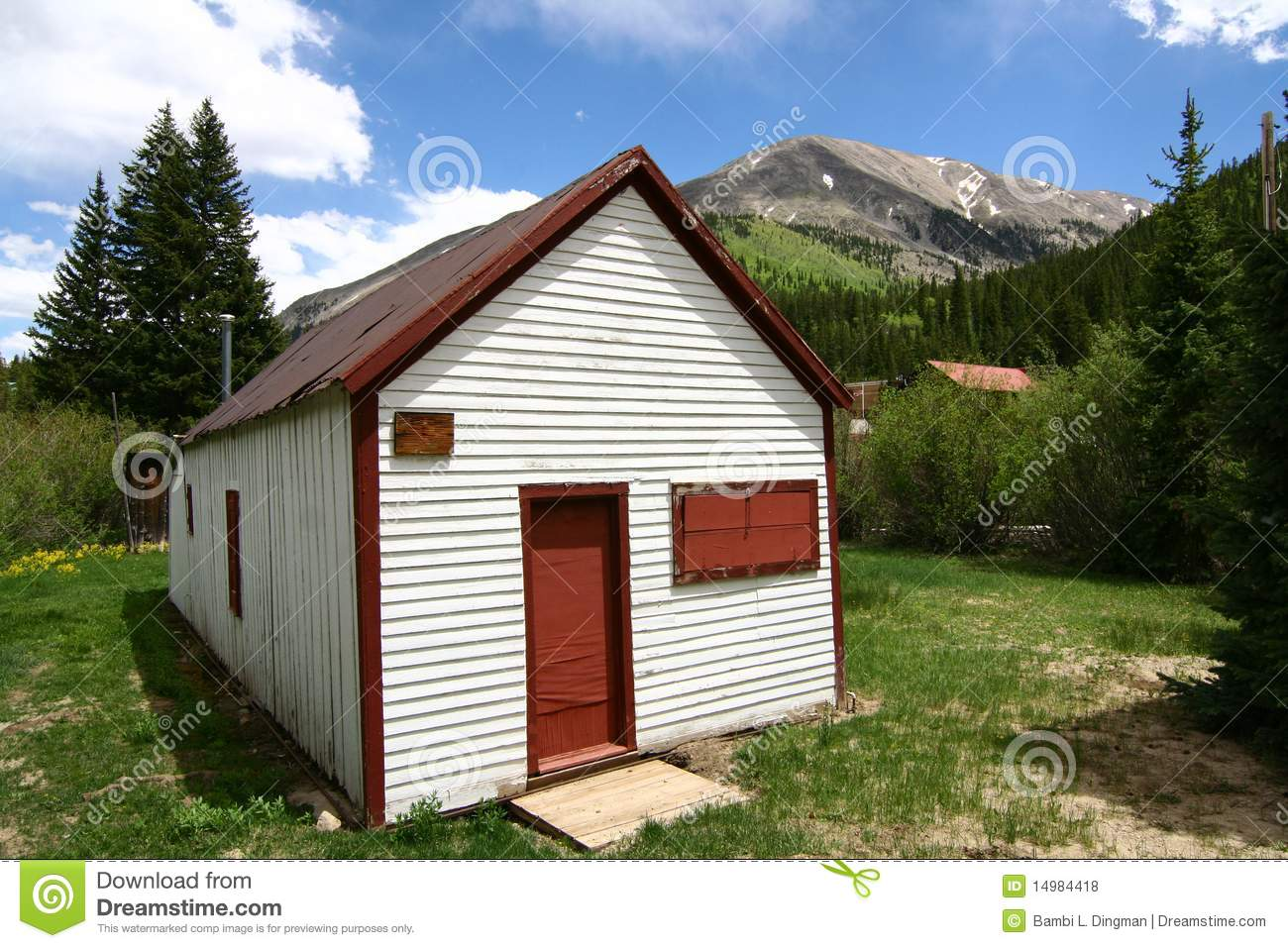 Small cabin in the rockies royalty free stock photos for St elmo colorado cabins