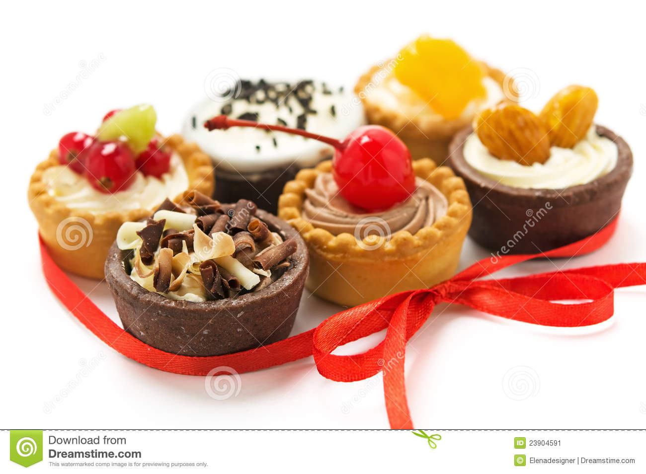 Small Cakes With Different Stuffing Stock Image Image