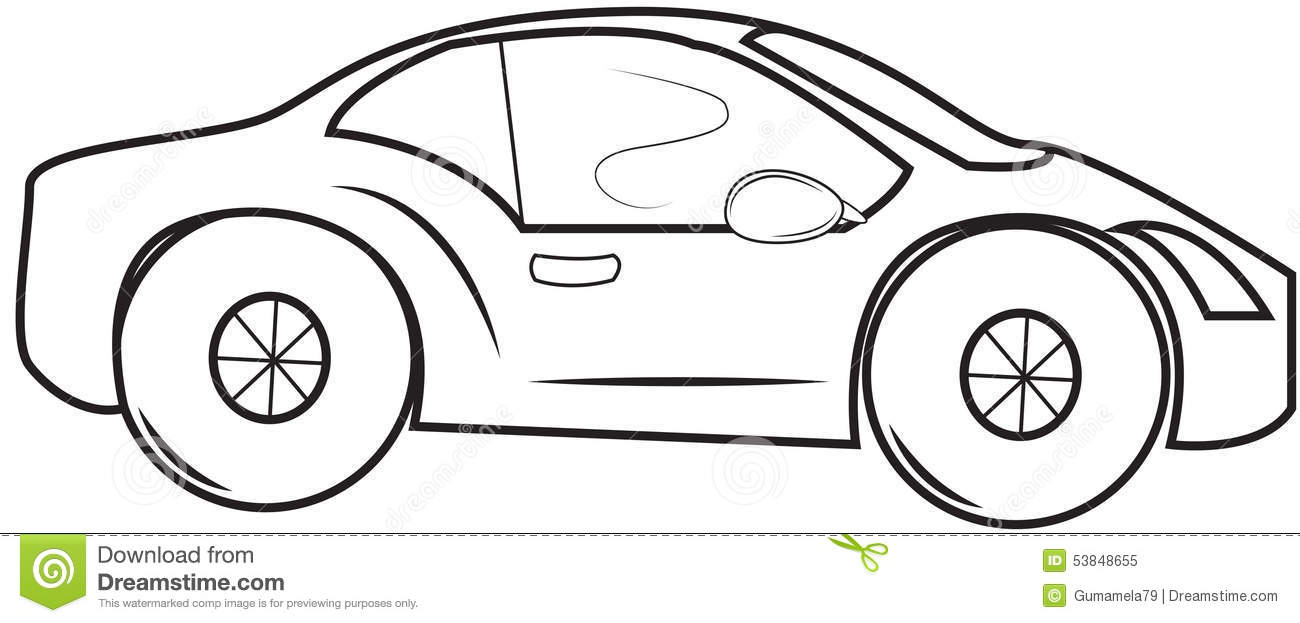 stock car coloring pages - royalty free stock photo small car coloring page image