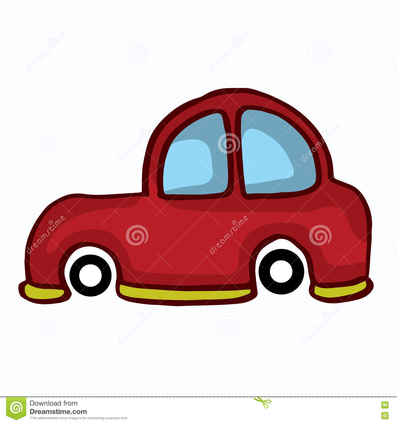 Small Car Style Design For Kids Stock Vector Illustration Of